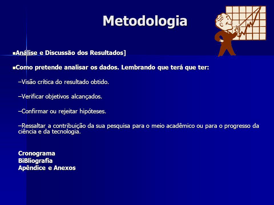 Metodologia Análise e Discussão dos Resultados]